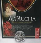 CARMANI - 1990 Alfons Mucha - amethyst platter 30 x 16 cm