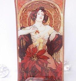 CARMANI - 1990 Alfons Mucha - Ruby - Decoration Platter