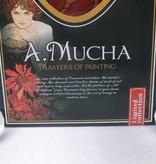 CARMANI - 1990 Alfons Mucha -  Rubin  - Dekorationsplatte 30 x 16 cm