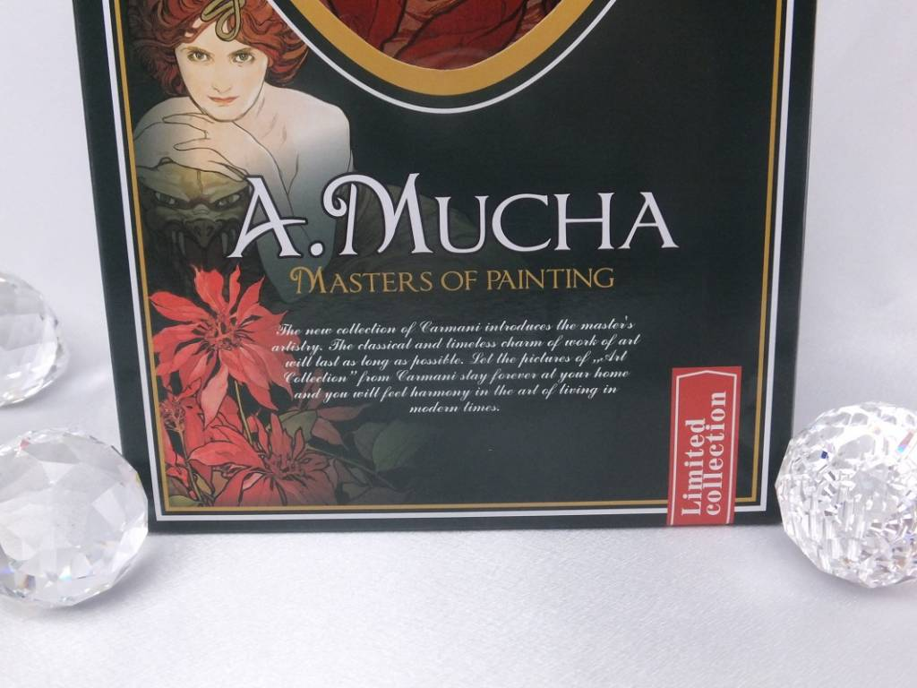 CARMANI - 1990 Alfons Mucha - Ruby - Decoration platter 30 x 16 cm