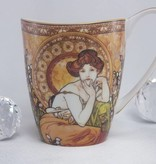 CARMANI - 1990 Alfons Mucha - The Precious Stones -Topaz - Coffee Cup Vanessa