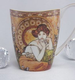 CARMANI - 1990 Alfons Mucha -  Topaz -Kaffeetasse Vanessa