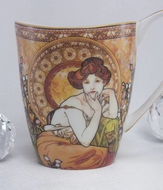 CARMANI - 1990 Alfons Mucha - Topaz - mug Vanessa