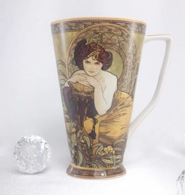CARMANI - 1990 Alfons Mucha - Emerald Coffee Mug XXL
