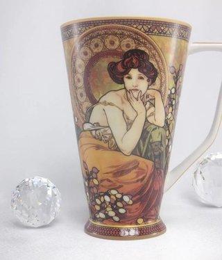 CARMANI - 1990 Alfons Mucha - Topaz - XXL Coffee Cup