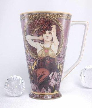 CARMANI - 1990 Alfons Mucha - Amethyst - XXL Coffee Cup