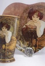 CARMANI - 1990 Alfons Mucha -  The Precious Stones  -Smaragd - XXL Kaffeetasse