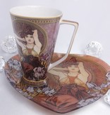 CARMANI - 1990 Alfons Mucha -  The Precious Stones  - Amethyst - XXL Kaffeetasse