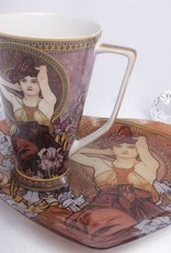 CARMANI - 1990 Alfons Mucha -  The Precious Stones  -Amethyst - XXL Kaffeetasse