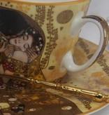 CARMANI - 1990 Gustav Klimt - Kaffeetasse  mit Untertasse - Der Kuss - hell