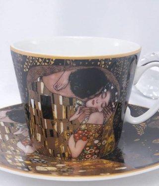 CARMANI - 1990 Gustav Klimt - Coffee Cup Set - The Kiss Nero