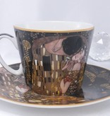 CARMANI - 1990 Gustav Klimt - - The Kiss - Nero coffee cup with saucer