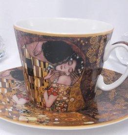 CARMANI - 1990 Gustav Klimt - Coffee Cup Set - The Kiss - Brown