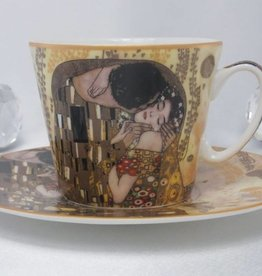 CARMANI - 1990 Gustav Klimt - Coffee Cup Set - The Kuss- hell