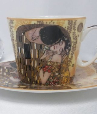 CARMANI - 1990 Gustav Klimt - Coffee Cup Set - The Kiss- bright