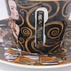 CARMANI - 1990 Gustav Klimt - Erwartung - Kaffeetasse  mit Untertasse  in Geschenkbox