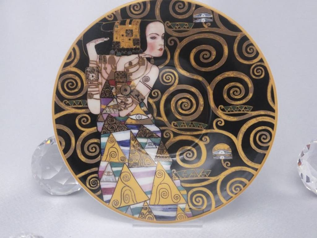 CARMANI - 1990 Gustav Klimt - Expectation - Coffee cup with saucer in gift box