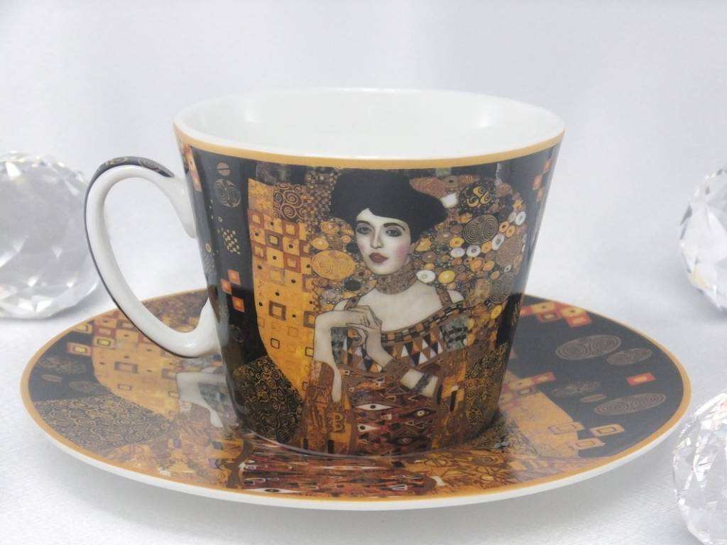 CARMANI - 1990 Gustav Klimt - Adele Bloch Bauer Kaffeetasse  mit Untertasse -