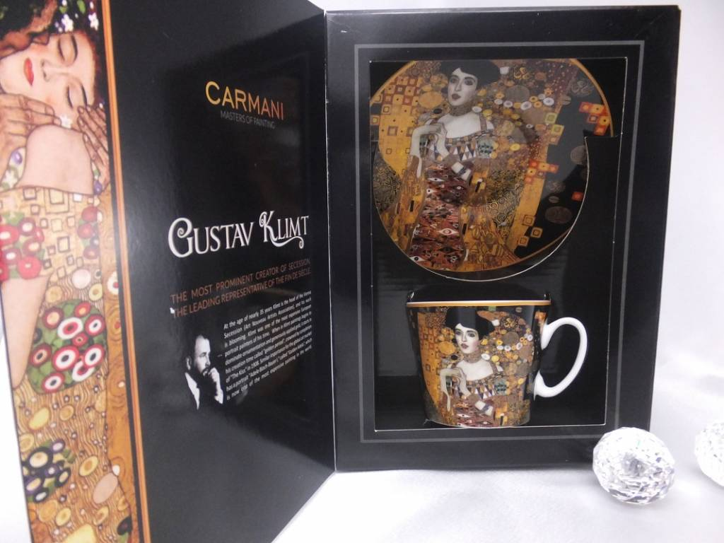 CARMANI - 1990 Gustav Klimt - Coffee Cup with Saucer - Adele Bloch Bauer
