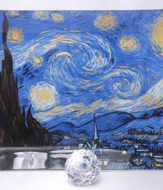 CARMANI - 1990 Van Gogh - Starry Night - glass plate