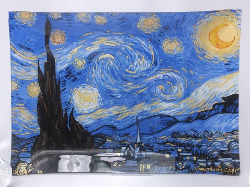 CARMANI - 1990 Vincent van Gogh - Starry Night - Decoration Plate 20 x 28 cm