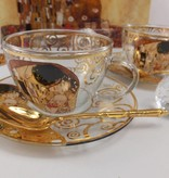 CARMANI - 1990 Gustav Klimt - Der Kuss - Cappuccino Tassen aus Glas