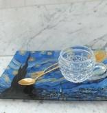 CARMANI - 1990 Vincent van Gogh - Sternennacht - Dekorationsteller  20 x 28 cm