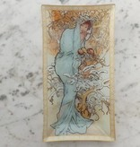 CARMANI - 1990 Alfons Mucha - Glass Plate - The Four Seasons - Winter in Gift Box