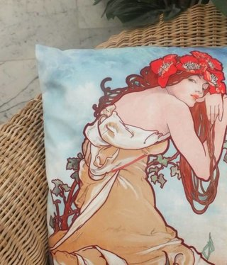 CARMANI - 1990 Alfons Mucha - Summer - Pillow
