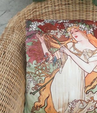 CARMANI - 1990 Alfons Mucha - Spring - Pillow