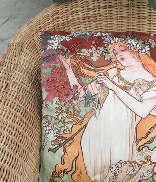CARMANI - 1990 Alfons Mucha - Spring - Pillow