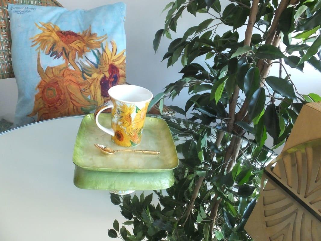 CARMANI - 1990 Vincent van Gogh - Sonnenblumen - Kissen 45 x 45 cm