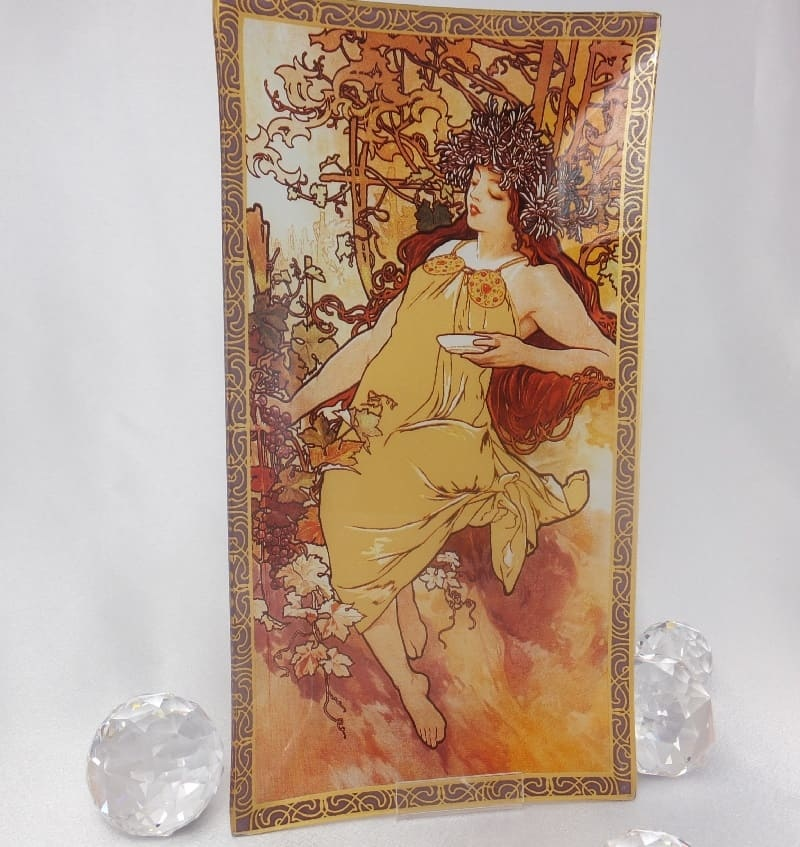 CARMANI - 1990 Alfons Mucha - Glasteller - The Four Seasons - Herbst