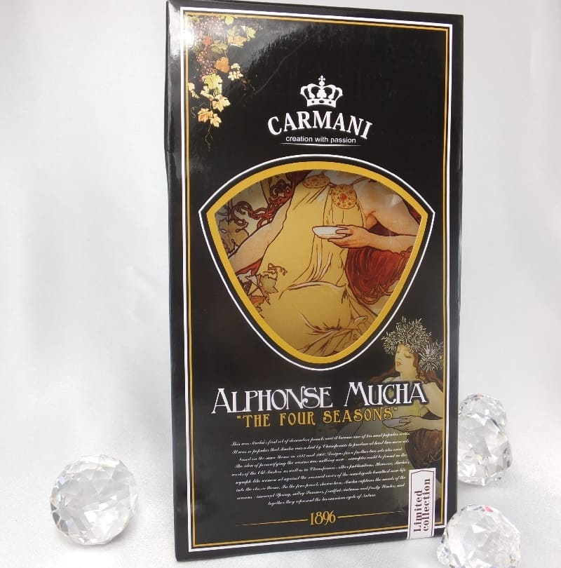 CARMANI - 1990 Alfons Mucha - Glass Plate - The Four Seasons - Autumn