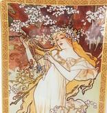 CARMANI - 1990 Alfons Mucha - Glasteller - The Four Seasons - Frühling