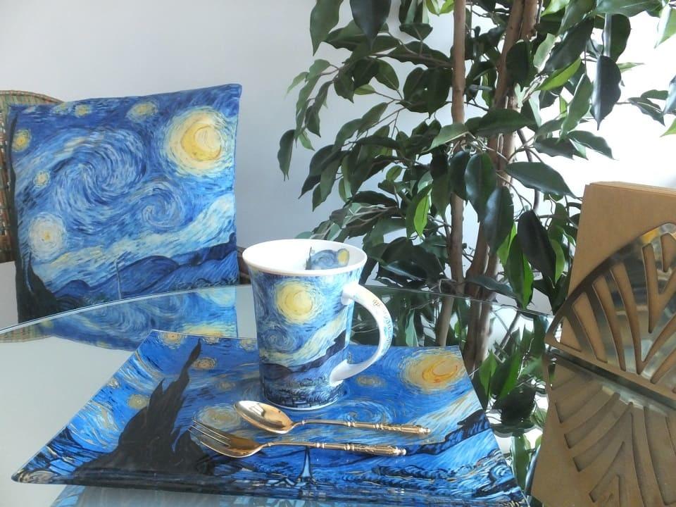 CARMANI - 1990 Vincent van Gogh - Sternennacht - Kissen 45 x 45 cm