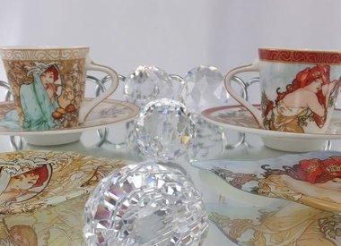 Alfons Mucha - coffee cups, espresso cups