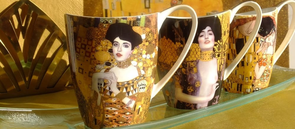 Gustav Klimt & The Kiss porcelain and glass collection