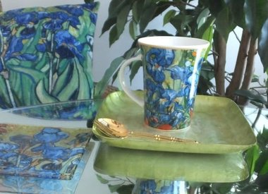Impressionists - Coffee Cup & Glass Tray