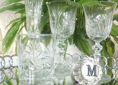 Collection C - glass cups & crystal glasses