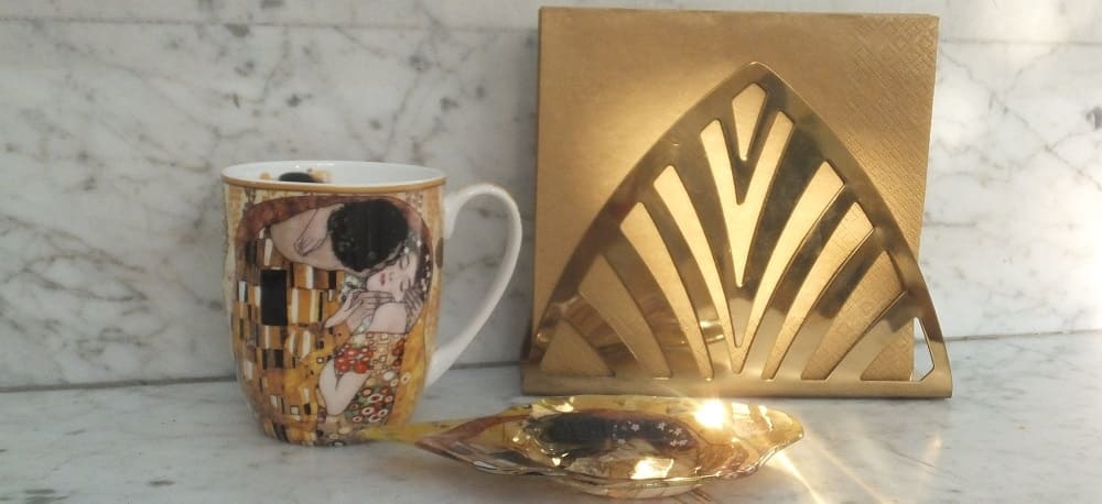 Gustav Klimt Collection for interior design and as a corporate gift in elegant gift boxes in gold.