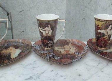 Alfons   Mucha - Kaffeetassen & Glastabletts