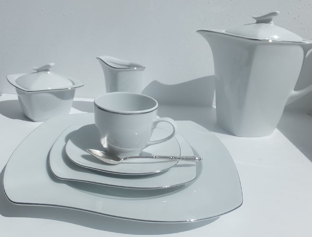 CRISTOFF -1831 Marie - Christine Platin - Coffee service for 6 persons - 15 parts