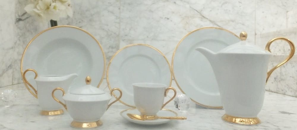 Marie - Julie porcelain collection with gold decoration