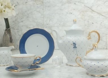 Marie - Josée white / cobalt