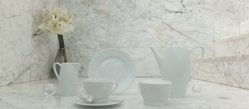 Marie - Blanche - porcelain line in puristic white