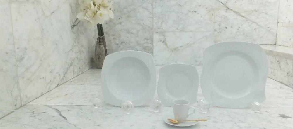 Marie - Christine in white - modern porcelain collection.