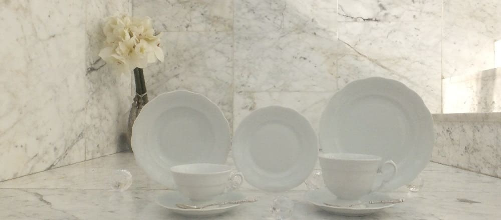 Marie - Josée - unique porcelain series in white with many parts and variations.