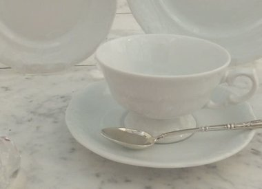 Marie - Claire White Dinner Service