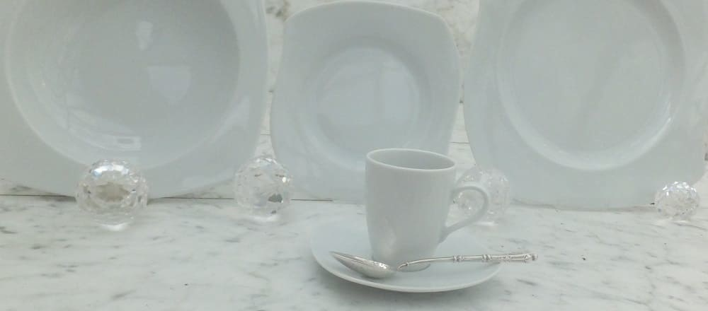 Marie - Christine in white - fancy porcelain line for hotels and gastronomy of the upper class.